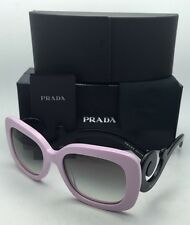 New PRADA Sunglasses SPR 27O PDP-0A7 54-19 Pink & Black w/ Grey Gradient lenses