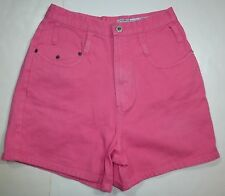 *NWT* COTTON EXPRESS WOMENS LADIES NEON PINK DENIM SHORTS SIZE 11/12 J56 A1