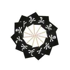 50x Skull & Crossbone Flags Pick Paper Toothpick Food Cupcake Cocktail Decor