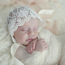 Infant Newborn Baby Girls Kids Lace Floral Hat Cap Beanie Bonnet Hats Photo Prop