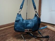 Coach #16931 Dark Teal Leather Kristen Shoulder Bag/Hand Carry Bag, SEE NOTES