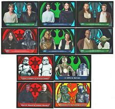 Star Wars Evolution Update Galaxy Crystal Insert Card Set Stained Glass #1-10