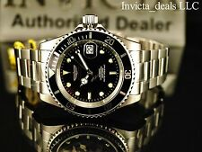 Invicta Men's 40mm Pro Diver Automatic Exhibition Black Dial Coin Edge SS Watch