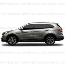 FOR HYUNDAI SANTA FE XL Painted Body Side Mouldings With Chrome Insert 2013-2017