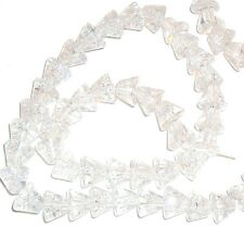 """G955f Clear Crystal Ice 7x6-8x6mm Round Cone Crackle Glass Beads 16"""""""