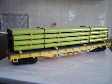 HO Flachwagen mit Rohren der 'Trailer Train'