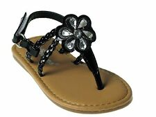 Hot New Baby Toddler Girls Adorable Sandals Size 1-12 Black Silver Gold Pink