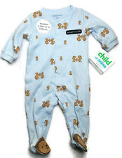 NWT CHILD OF MINE By CARTERS Boys COTTON Long Sleeve Footed Pajams Pjs 0-3 Mo