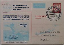 GERMANY 1964 BOEING 727 FIRST FLIGHT BERLIN - SEATTLE CARD