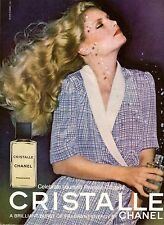 1979 Chanel Cristalle Perfume Fragrance Print Advertisement Ad Vintage VTG 70s