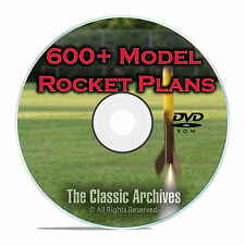 600+ Model Rocket Plans, Rocketry, Estes, Centuri, Fat Cat, Canaroc, PDF DVD F55