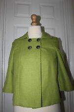 Ladies Green Coat Size 8 Smart Casual Jacket Papaya