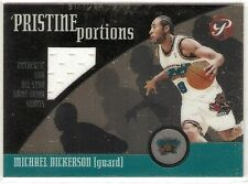 MICHAEL DICKERSON ALL-STAR SHORTS 2001-02 TOPPS PRISTINE PORTIONS MD GRIZZLIES