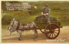 a load of turf . valentines carbo colour postcard