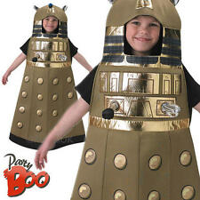 Dalek Age 7-8 Kids Fancy Dress Boys Girls Doctor Who Robot Halloween Costume New