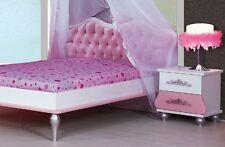 Letto bambina rosa una piazza e mezza francese principessa corona testiera