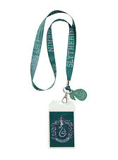 Harry Potter School House of SLYTHERIN ID Card Holder Neckstrap Lanyard W/ Charm