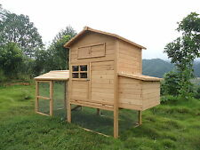 2016 Poultry Chicken Hen Cat Rabbit House Coop CC054FD up to 9 hens 8FTx3FT