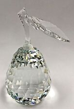 SWAROVSKI CRYSTAL SCS FACETED PEAR FRUIT FIGURINE w/BOX MICHAEL STAMEY ~ RETIRED