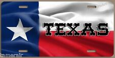 TEXAS FLAG LICENSE PLATE, PERSONALIZED,  Made in USA