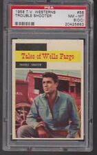 1958 Topps T.V. WESTERNS #58 TROUBLE SHOOTER PSA 8 (OC) nm/mt  Tales WELLS FARGO