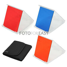3pcs Red Blue Orange Color Square Filter Kit for Cokin P Series With Case Set