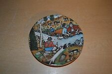 "Beautiful Miniature Arabia Finland Decorative Plate 40 ""Gold Panners"""