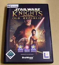 PC Game Juego-Star Wars-Knights of the Old Republic-completamente 4 cds alemán