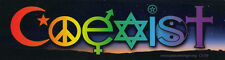 Coexist Twilight Interfaith - Magnetic Bumper Sticker / Decal Magnet