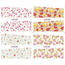 Nail Art Water Decal Manicure Transfer Sticker Pretty Flower Theme 1 Big Sheet