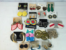 Asst. Lot 20 Pair Craft Earring Sets Clip Pierced Retro