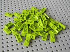 Lego 50 Lime Green 1 x 2 Tiles with Center Stud ( Jumpers) New Condition !!!!