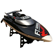 FT012 Upgraded FT009 2.4G 4CH Brushless RC Racing Boat Black NEW Arrived Hotsale