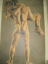 NUDE LOVERS Art Poster, signed Ryer