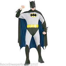 Batman Super Hero Mens Adult Halloween Stag Party Fancy Dress Costume Outfit