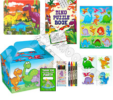 Pre Filled Dinosaur Party Box - Prehistoric Parties Activity Gift Bags