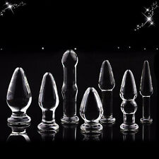 *** 1SET OF 8 Pcs STARTER SELECTION BUTT_PLUGS SEX GLASS_DILDO ANAL_TOY (8) ***