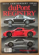 DuPont Registery 30th Anniversary Issue Porsche April 2015 FREE SHIPPING!