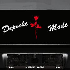 Depeche Mode Schriftzug + Violator Rose Aufkleber Tattoo Deko Folie Wandtattoo