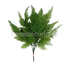 2xPlastic Lifelike Artificial Fern 5-Fork Foliage Bush Plants Indoor/outdoor