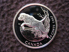1997 Canada's Best Friends - Canada Silver 50 Cent Coin - Labrador - Small Spot