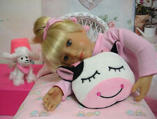 """Cow Doll Bed Pillow/Zippered Pajama Bag fits 10-18"""" Dolls - D1143"""