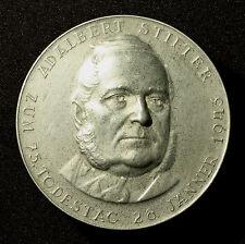 Große einseitige Zinnmedaille 1943, von A. Hartig, 75. Todestag Adalbert Stifter