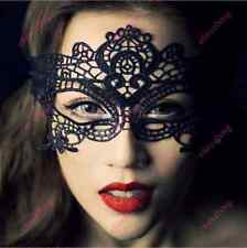 Black Sexy Lady Lace Floral Eye Mask Venetian Masquerade Fancy Party Dress ECAD