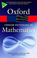 Nicholson, James TheConcise Oxford Dictionary of Mathematics by Nicholson, James