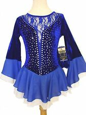 Figure Ice Skating Twirling Baton Dance S-Dress,Costume Girls Small