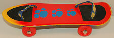 "9.5"" Real Rolling Skateboard w/ Foot Straps Build A Bear Workshop Accessory"