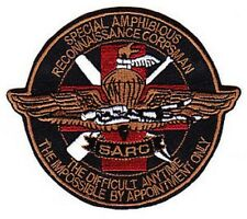 NAVY & USMC SARC MILITARY PATCH THE DIFFICULT ANYTIME IMPOSSIBLE BY APPT ONLY