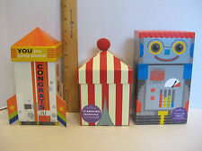 NEW LOT 3 HALLMARK GIFT CARD BOXES for Small Gifts, Birthday Congrats Free Ship
