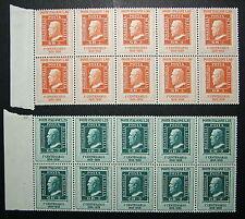 1959  ITALIA 25+60   lire Poste di Sicilia  2 blocchi  di 10 valori  MNH**